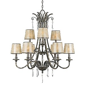 Kendra 2-Tier Chandelier by Quoizel