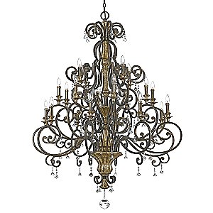 Marquette 3-Tier Chandelier by Quoizel