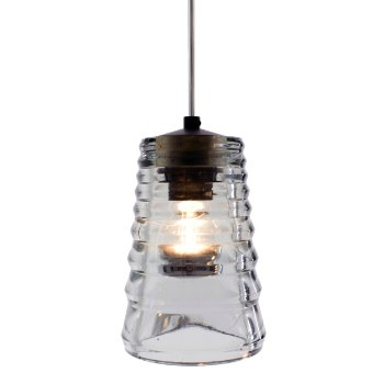 Pressed Glass Pendant - Tube