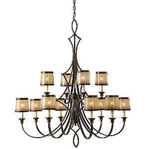 Justine 2 Tier Chandelier by Murray Feiss