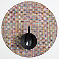 Basketweave Set of 4 Round Tablemats by Chilewich