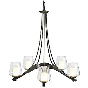 Ribbon Chandelier with Clear Glass by Hubbardton Forge
