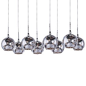 Starburst Multi-Light Linear Suspension - Mirror Chrome by ET2