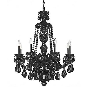 Hamilton Black Chandelier by Schonbek