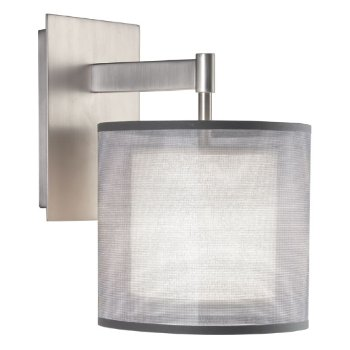 Saturnia Wall Sconce (Steel/Silver/White) - OPEN BOX RETURN