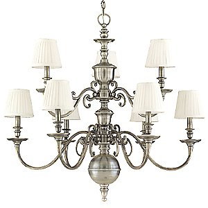 Charleston 2-Tier Chandelier by Hudson Valley