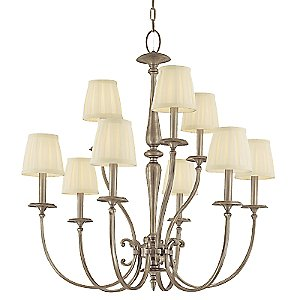 Jefferson 2 Tier Chandelier by Hudson Valley