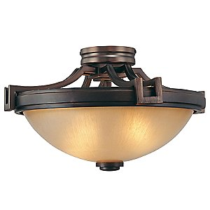 Underscore Semi-Flushmount by Metropolitan Lighting