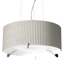 Aura Pleated Drum Pendant by Carpyen