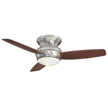 Concept Traditional Flush Ceiling Fan with Optional Light