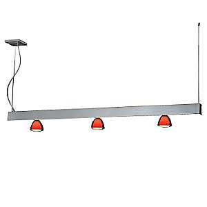 Kairos II Linear Pendant with Glass by Bruck Lighting