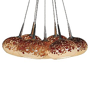 Laguna Bouquet Multi Light Pendant by Bruck Lighting