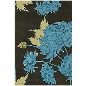Chrysanthemum Wool Rug by Amy Butler