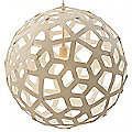 Coral Painted Pendant by David Trubridge Design