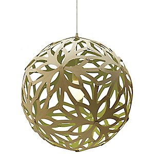 Floral Painted Pendant by David Trubridge Design