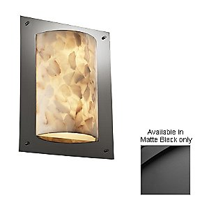 Alabaster Rocks! Framed Rectangle Wall Sconce by Justice Design - OPEN BOX RETURN