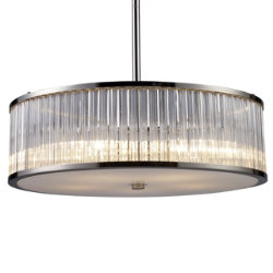 Braxton Drum Pendant/Semi-Flushmount by ELK Lighting
