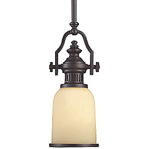 Chadwick Mini Pendant with Glass Shade by Landmark Lighting