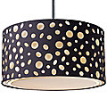 Enchantment Large River Stone Drum Pendant by Landmark Lighting