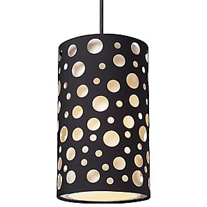 Enchantment Small River Stone Drum Pendant by Landmark Lighting