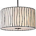 Lineas Drum Pendant by Landmark Lighting