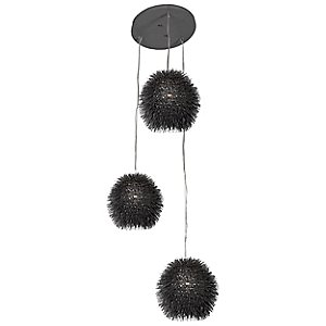 Urchin 3-Light Cluster Pendant by Varaluz