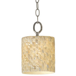 Sustainable Shell Naturals Chain Pendant by Varaluz