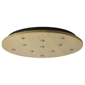 Round Wood Multi-Light Canopy