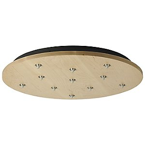 Round Wood Multi-Light Canopy by Tech Lighting