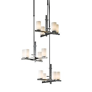 Ondrian Tiered Multi-Light Suspension by Hubbardton Forge