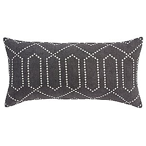 Dotted Trellis Long Pillow by DwellStudio
