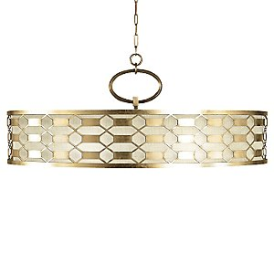 Allegretto 787740 Oval Drum Pendant by Fine Art Lamps