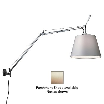 Tolomeo with Shade Wall Lamp (J Bracket/Parchment Paper) - OPEN BOX