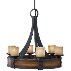 Madera Chandelier No. 2591 by Murray Feiss