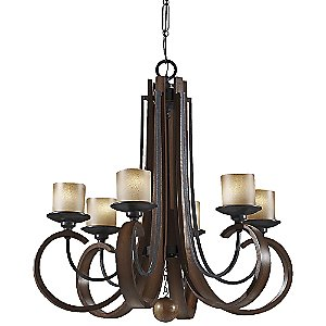 Madera Chandelier No. 2590 by Murray Feiss