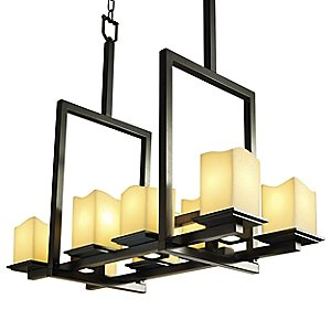 CandleAria Montana 8-Up and 3-Downlight Linear Chandelier by Justice Design