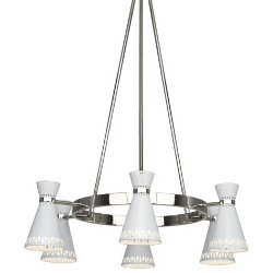 Havana 6 Light Chandelier by Jonathan Adler