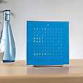 QLOCKTWO TOUCH Table Alarm Clock by Biegert & Funk