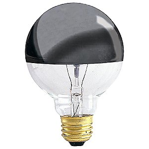Chrome Tip Globe Light Bulb by Bulbrite