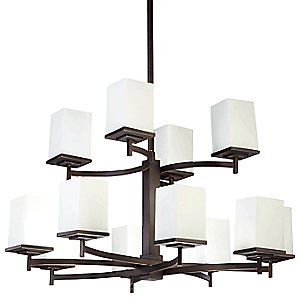 Delta 2-Tier Chandelier by Quorum