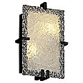Veneto Glass Clips Rectangular Wall Sconce by Justice Design