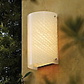 Fusion Finials Curved Outdoor Wall Sconce by Justice Design