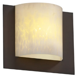 Fusion Framed Square 3-Sided Wall Sconce by Justice Design