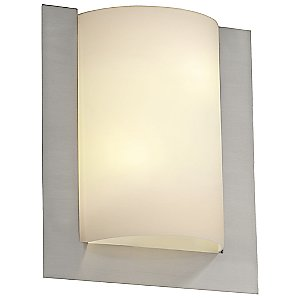 Fusion Framed Rectangular 3-Sided Wall Sconce by Justice Design