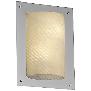 Fusion Framed Rectangular 4-Sided Wall Sconce by Justice Design