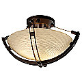 Fusion Round Semi-Flush Bowl with Crossbar by Justice Design