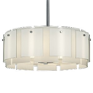 Velo Drum Pendant by Sonneman