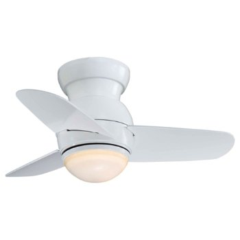 Spacesaver Ceiling Fan (White/Etched Opal) - OPEN BOX RETURN