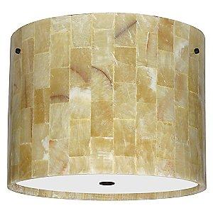 Tamburo Mosaic Onyx Flushmount by Besa Lighting
