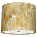 Tamburo Mosaic Onyx Flushmount by Besa Lighting